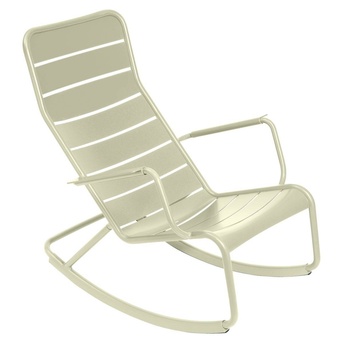 Luxembourg outdoor rocking chair in colour willow green from luxembourg modern outdoor furniture willow green