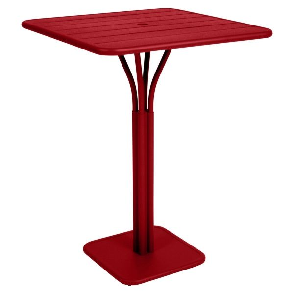 Fermob Luxembourg High Table in Poppy