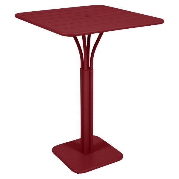 Fermob Luxembourg High Table in Chilli