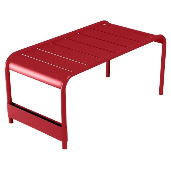 Fermob Luxembourg Large Low Table And Garden Bench in Poppy