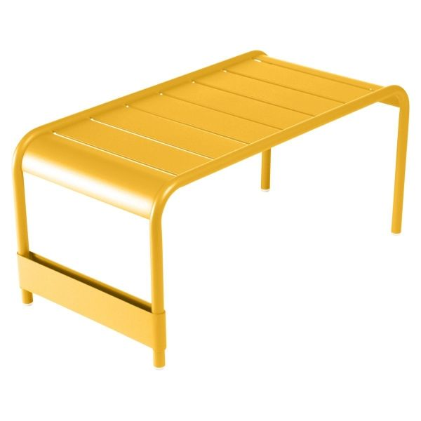 Fermob Luxembourg Large Low Table And Garden Bench in Honey