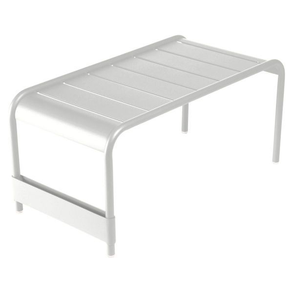 Fermob Luxembourg Large Low Table And Garden Bench in Steel Grey