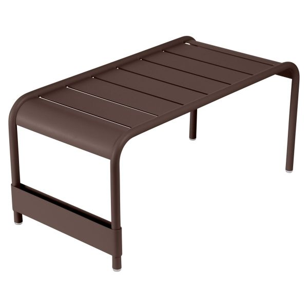Fermob Luxembourg Large Low Table And Garden Bench in Russet