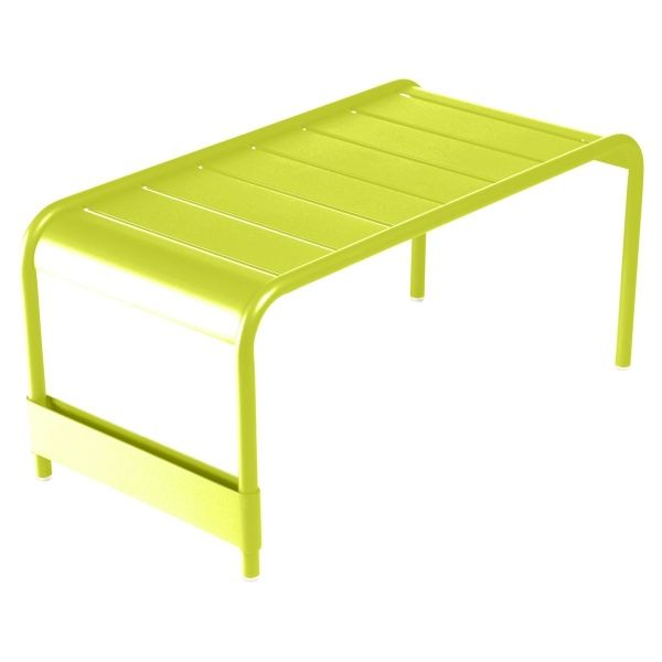 Fermob Luxembourg Large Low Table And Garden Bench in Verbena