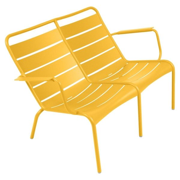 Fermob Luxembourg Low Armchair Duo in Honey