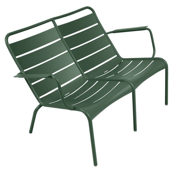 Fermob Luxembourg Low Armchair Duo in Cedar Green