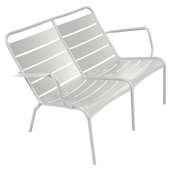 Fermob Luxembourg Low Armchair Duo in Steel Grey