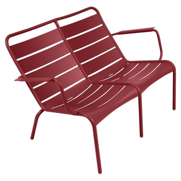 Fermob Luxembourg Low Armchair Duo in Chilli