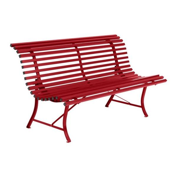 Fermob Louisiane Bench 150cm in Poppy