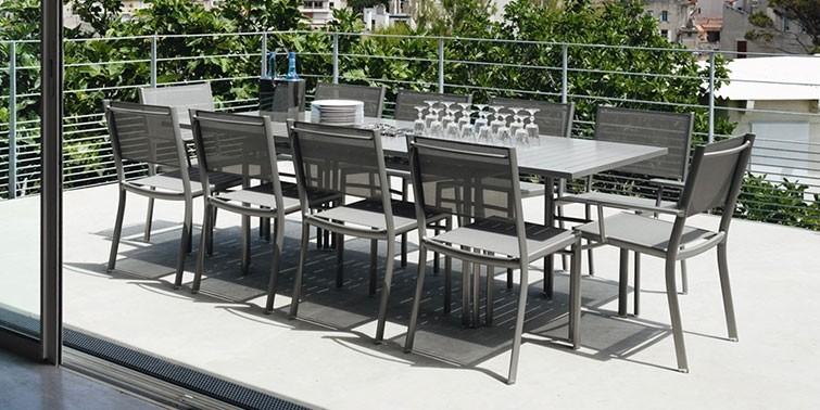 Costa designer outdoor furniture jardin - Table jardin moderne dijon ...