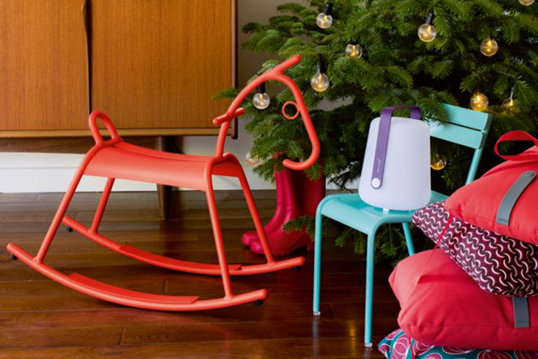 Fermob Adada childrens rocking horse under Christmas tree