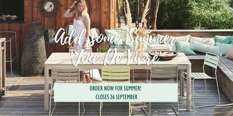 Summer Outdoor Furniture Orders